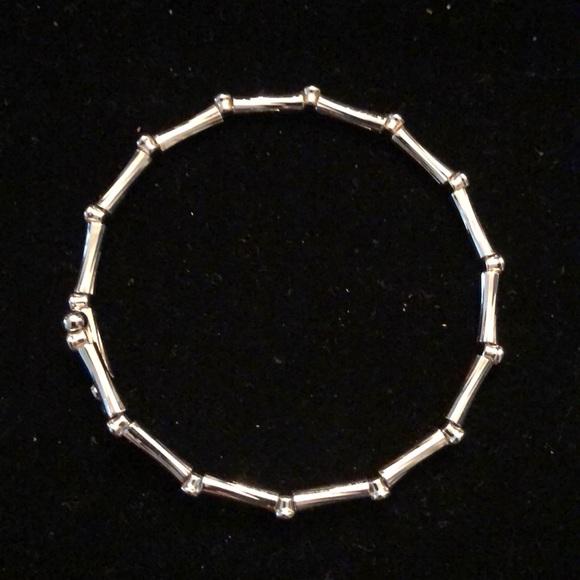 Merx Silver Bamboo Shape Bracelet
